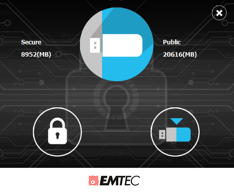 EMTEC Security partition size 1
