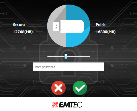 EMTEC Security partition size 2