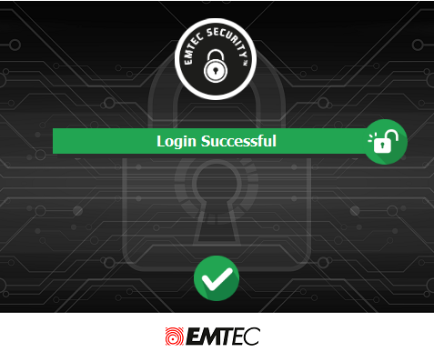 EMTEC Security login successful