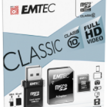 microSD Class10 Classic with USB 2.0 card reader cardboard 32GB