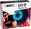 CD-R Vinyl Look blue pack 10
