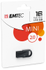 D250 Mini USB 2.0 cardboard black 1pack 16GB